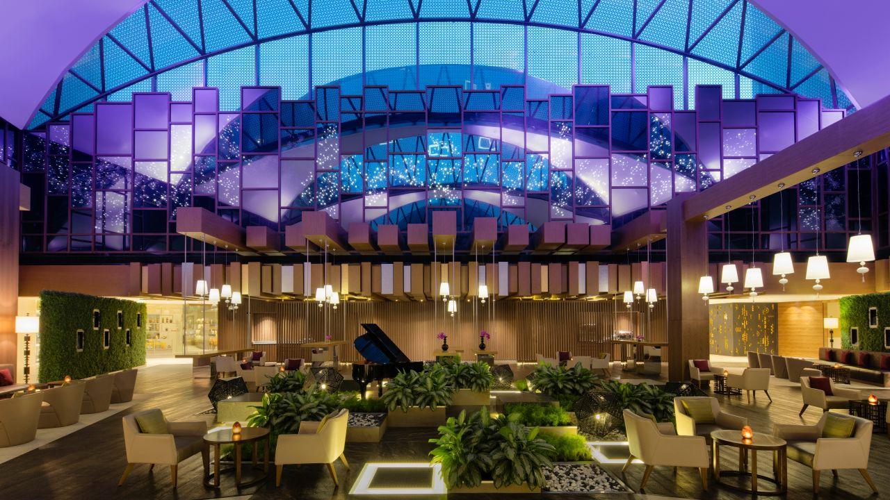 Lobby Lounge Partial Purple Hue