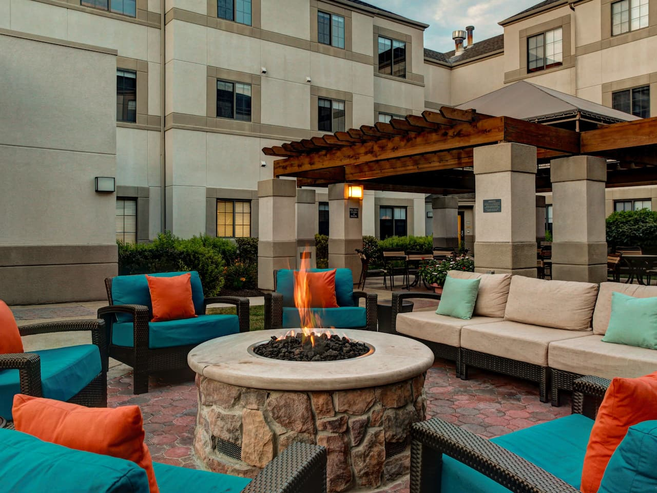 Hyatt House Morristown Fire Pit Patio