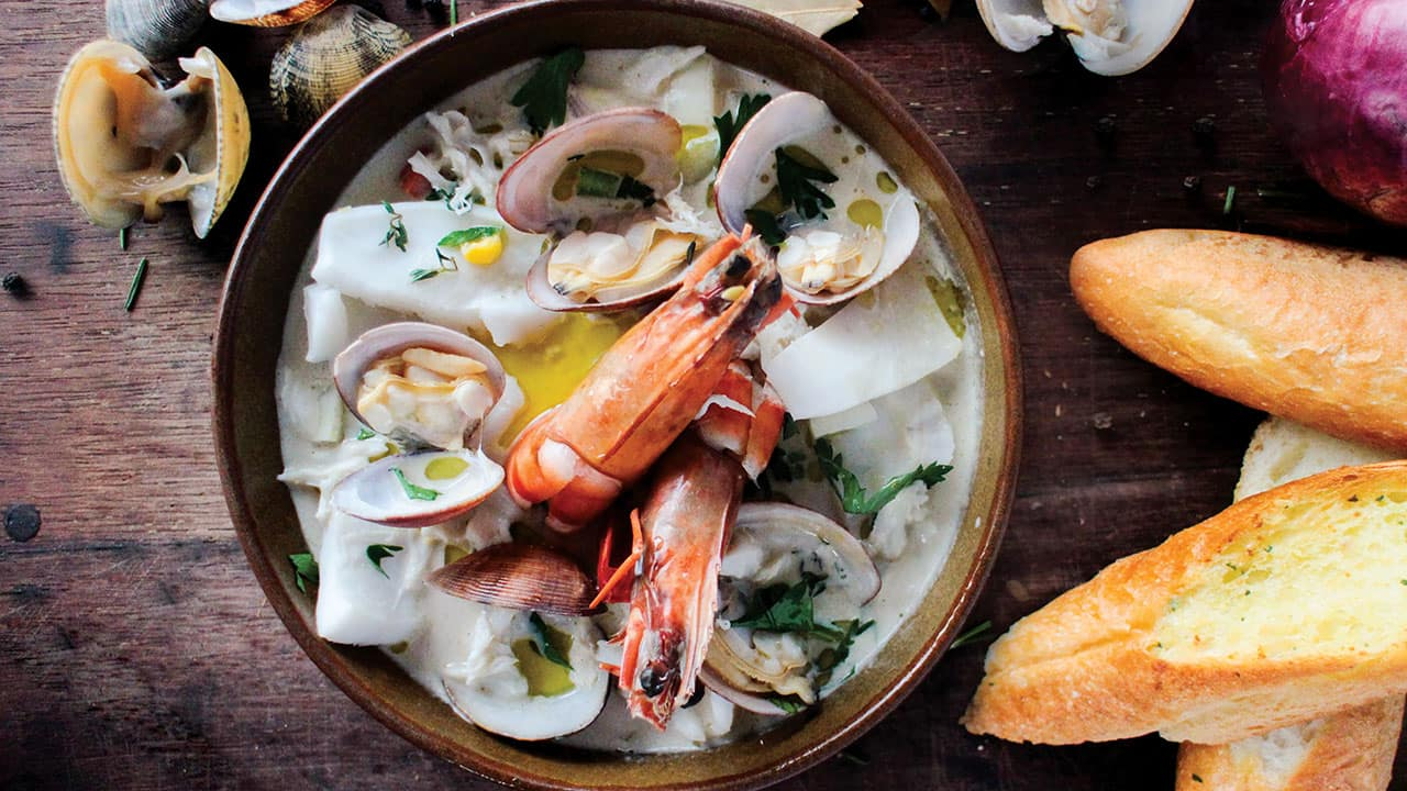 Clam Chowder Menu at Grand Hyatt Bali Restaurants