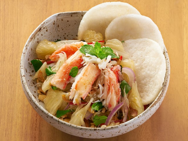 "Get ""Snow Crab Salad"" in Vietnamese cuisine at the Park Hyatt hotel Saigon"