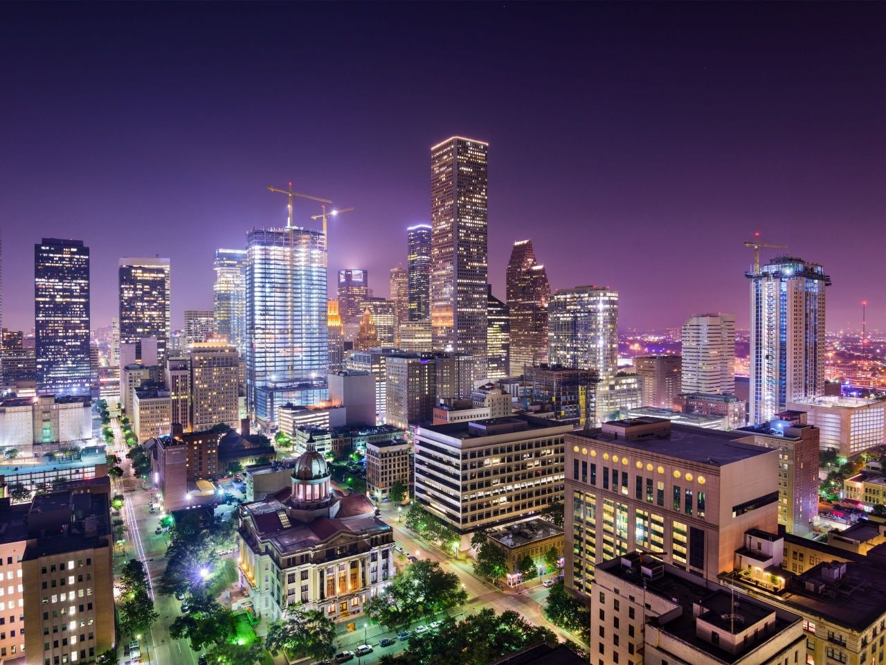 Huston at night