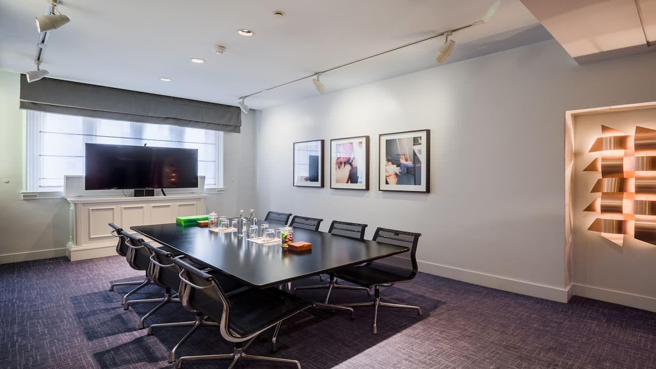 Small suites meeting space at Andaz London Liverpool Street