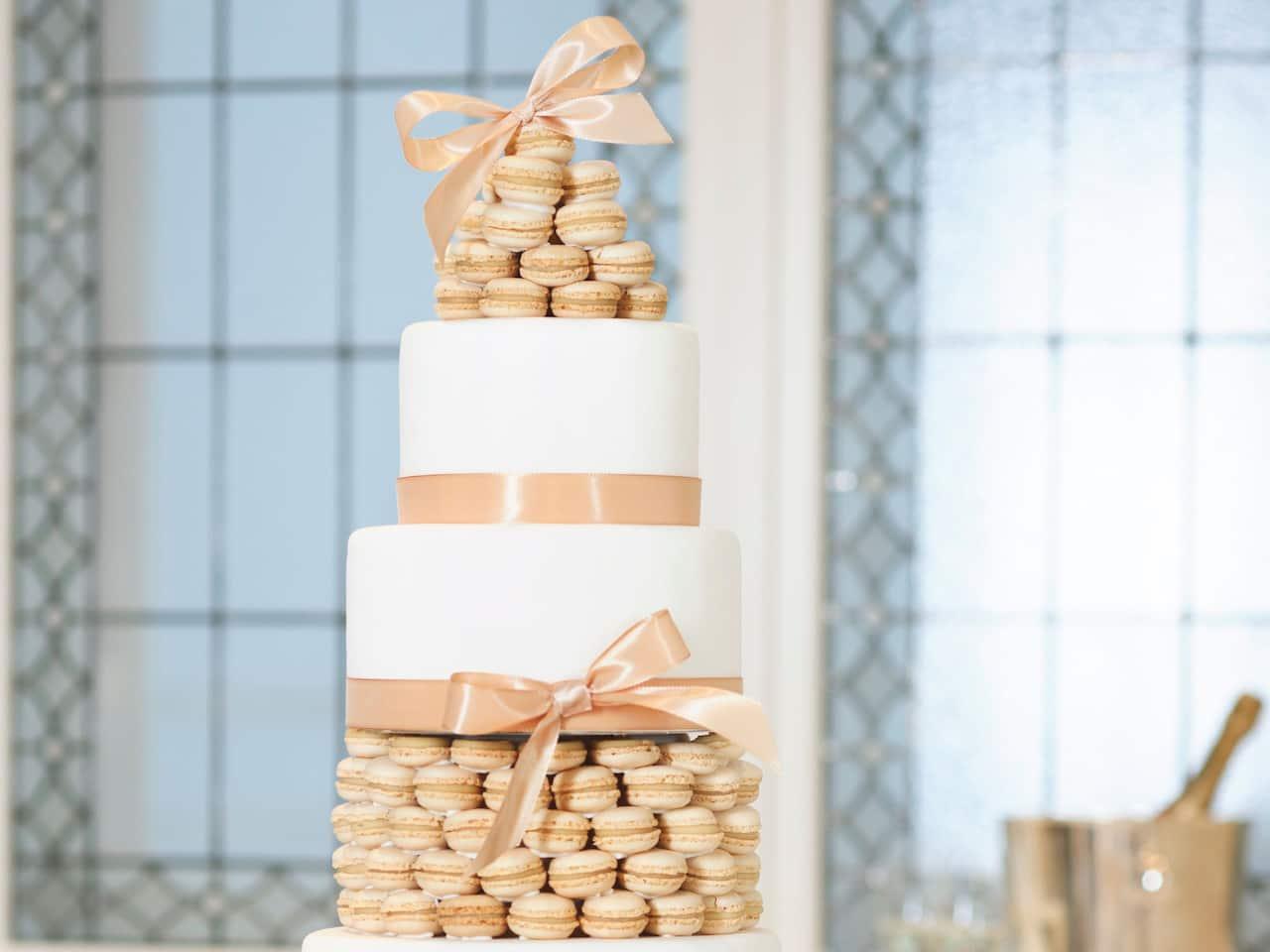 Bel Etage Macaron Wedding Cake