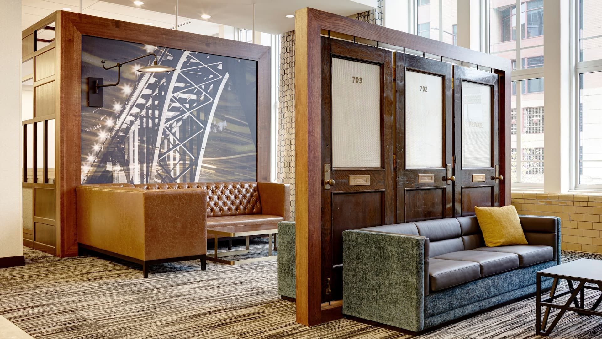 Hyatt Place St Paul Downtown Lobby Vintage Doors