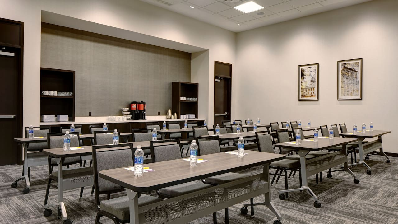 Flexible meeting space in classroom setup at Hyatt Place St. Paul/Downtown