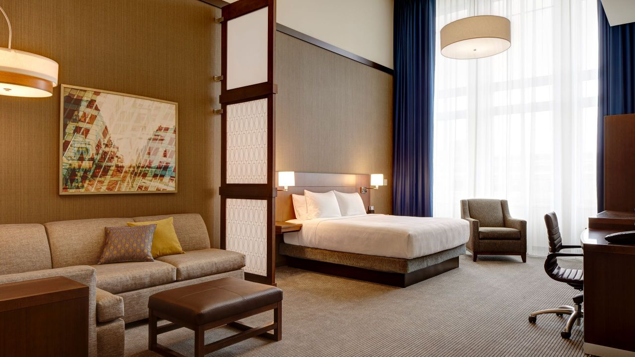 king bedroom with sofa bed