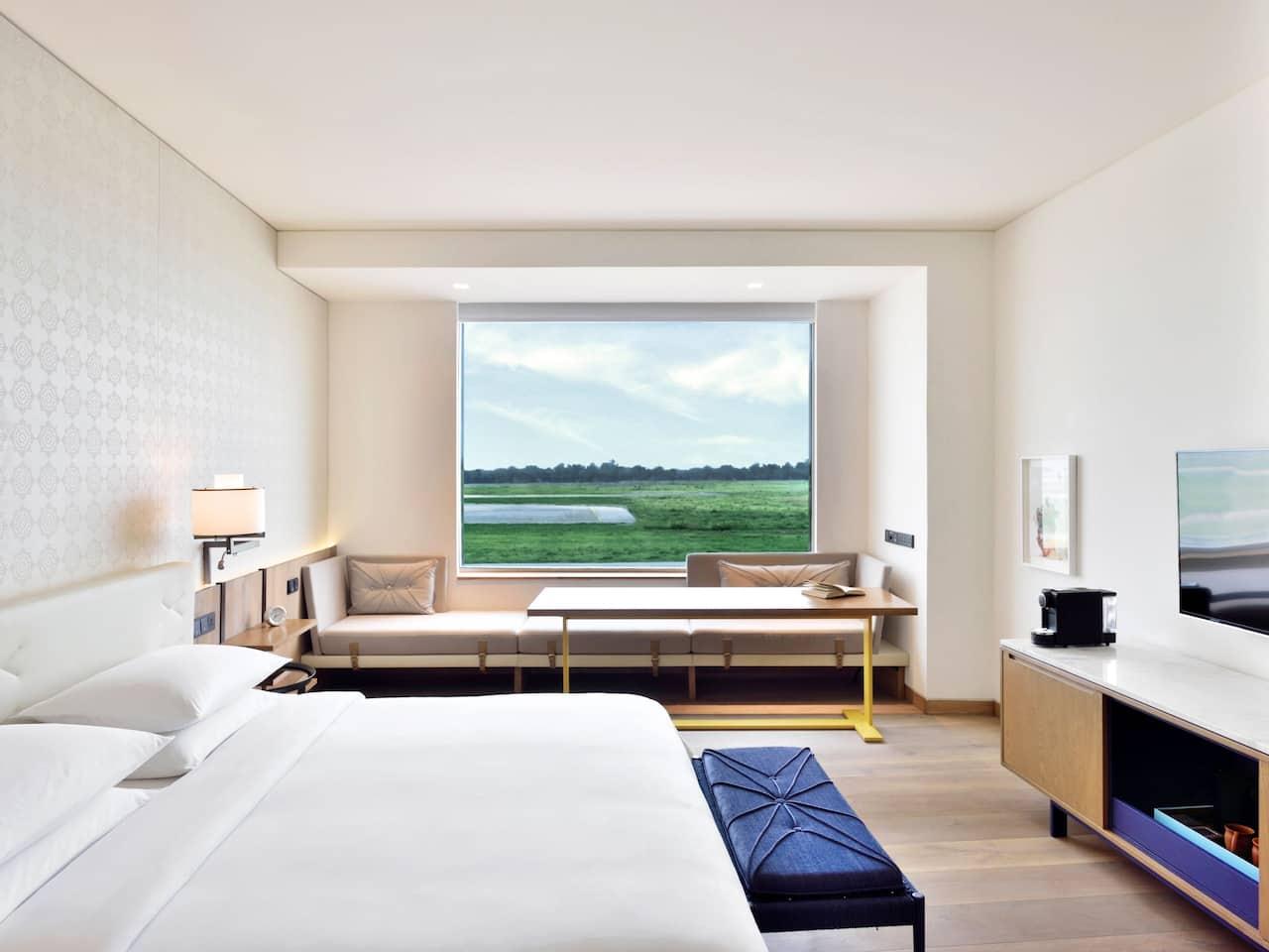 Andaz Delhi runway view guestroom