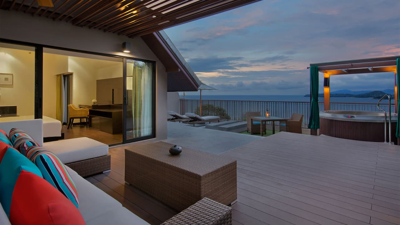 Ocean View Terrace Room Twilight