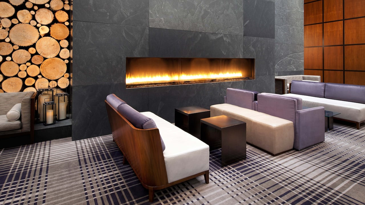 Lobby Fireplace Hyatt Regency Minneapolis