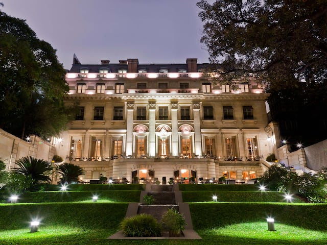Hotel Facade and Grounds Evening Park Hyatt Buenos Aires