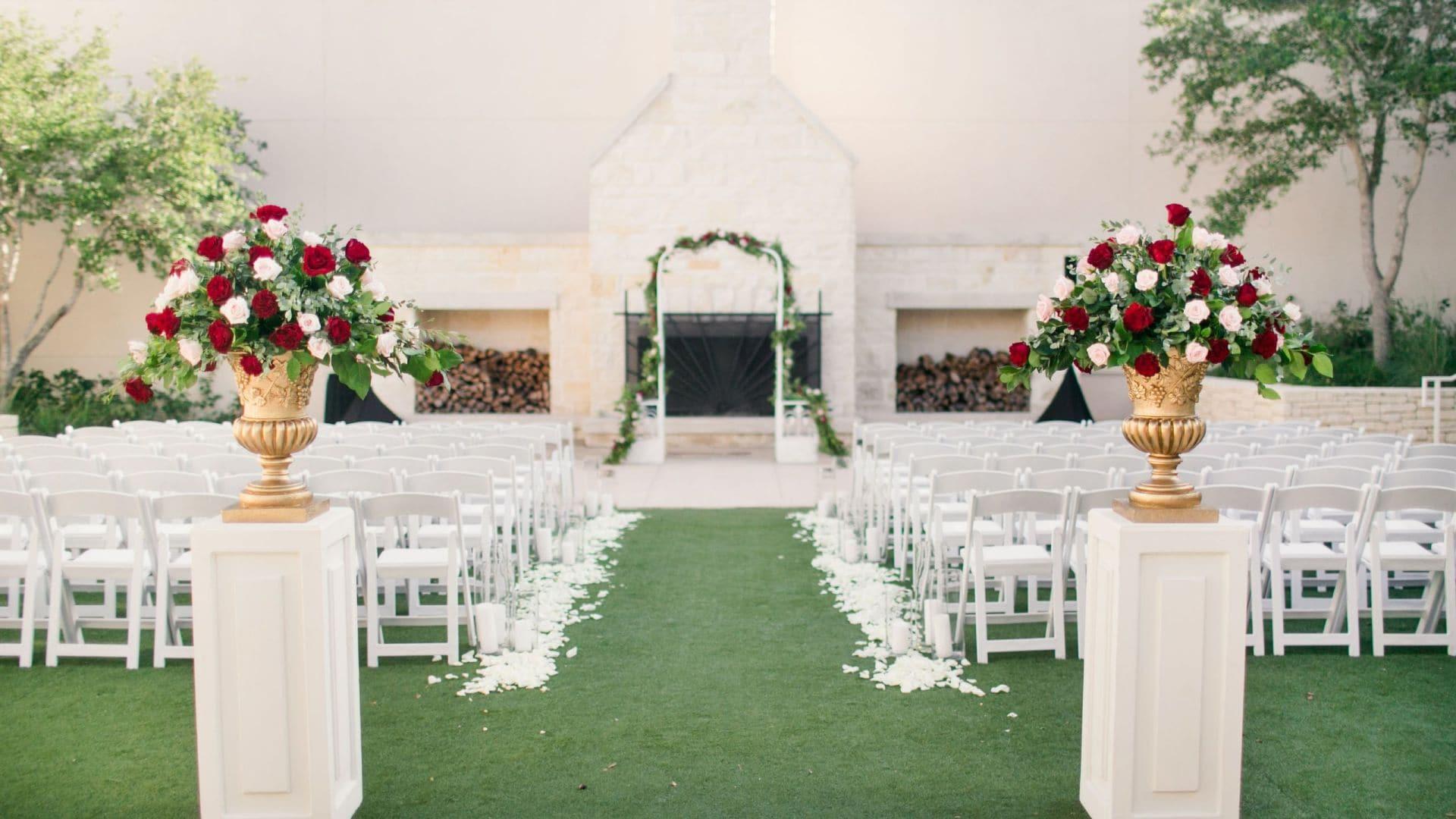 Weddings Windmill Plaza Ceremony Setup