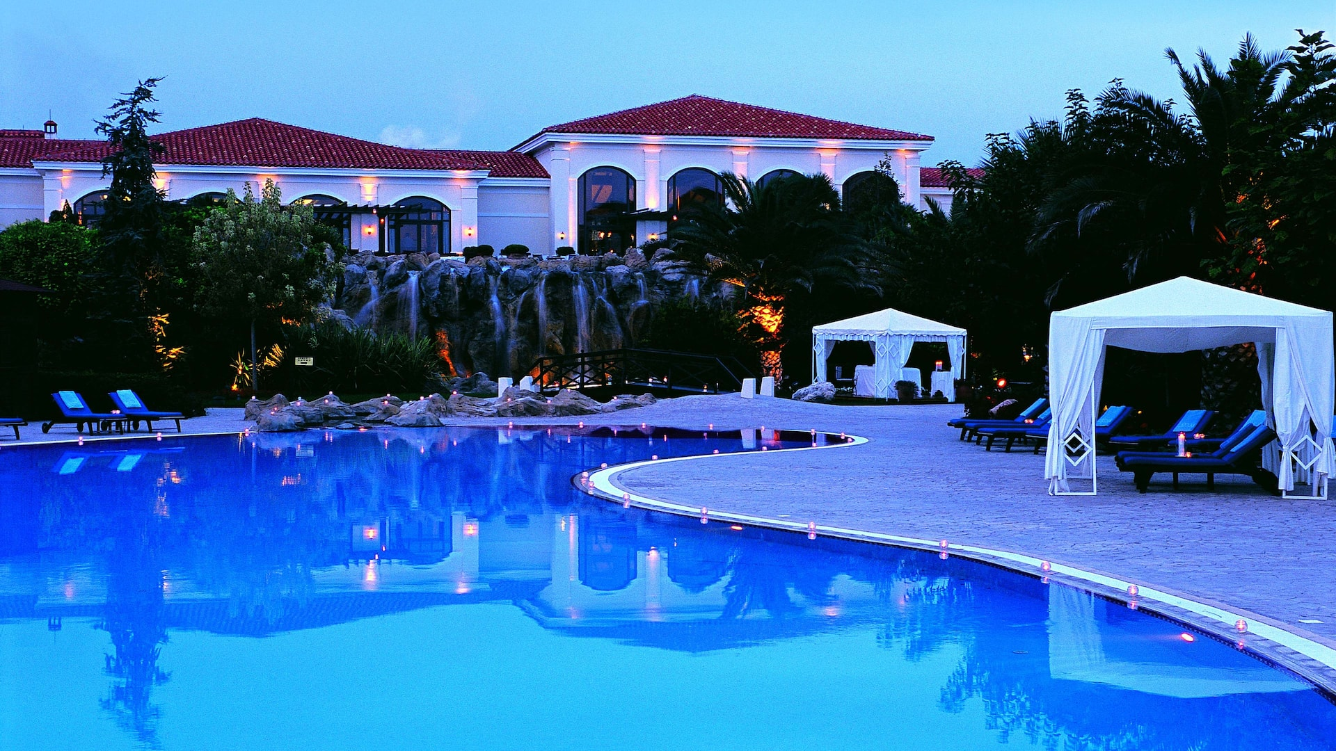 Hotel exterior and outdoor pool
