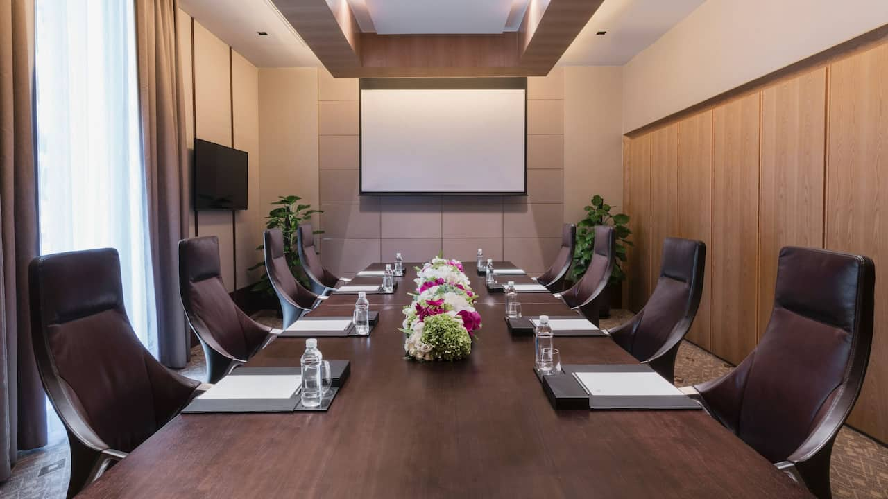 Boardroom Meeting Setup