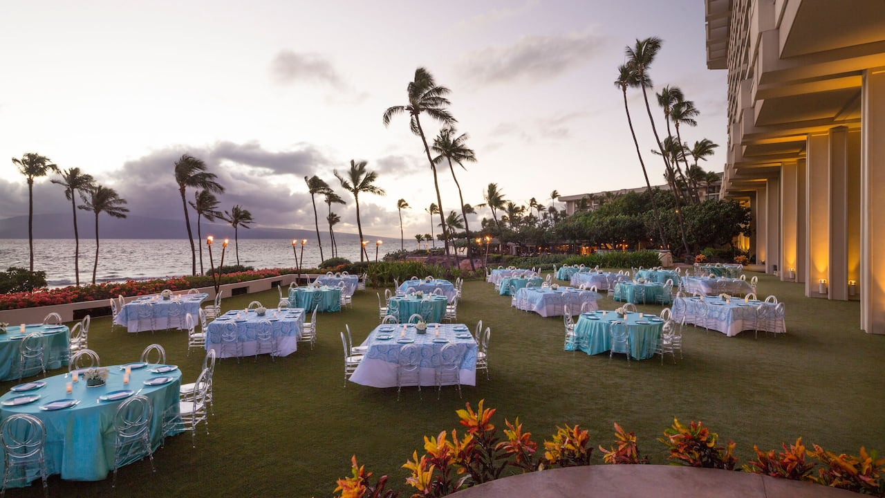 Halona Kai Outdoor Reception Hyatt Regency Maui Resort and Spa
