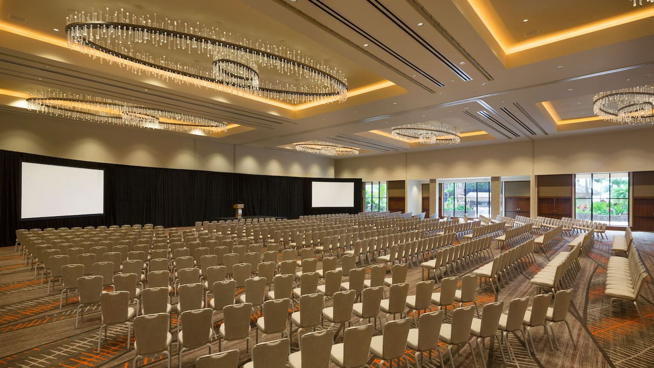 Large conference room inside Hyatt Regency Maui Resort and Spa