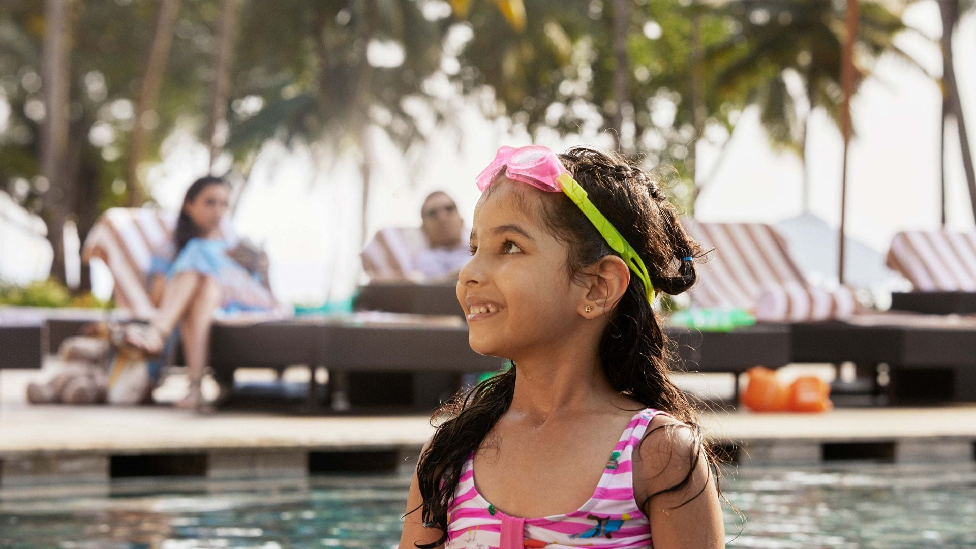 Girl in Orlando Hotel Pool Hyatt Regency