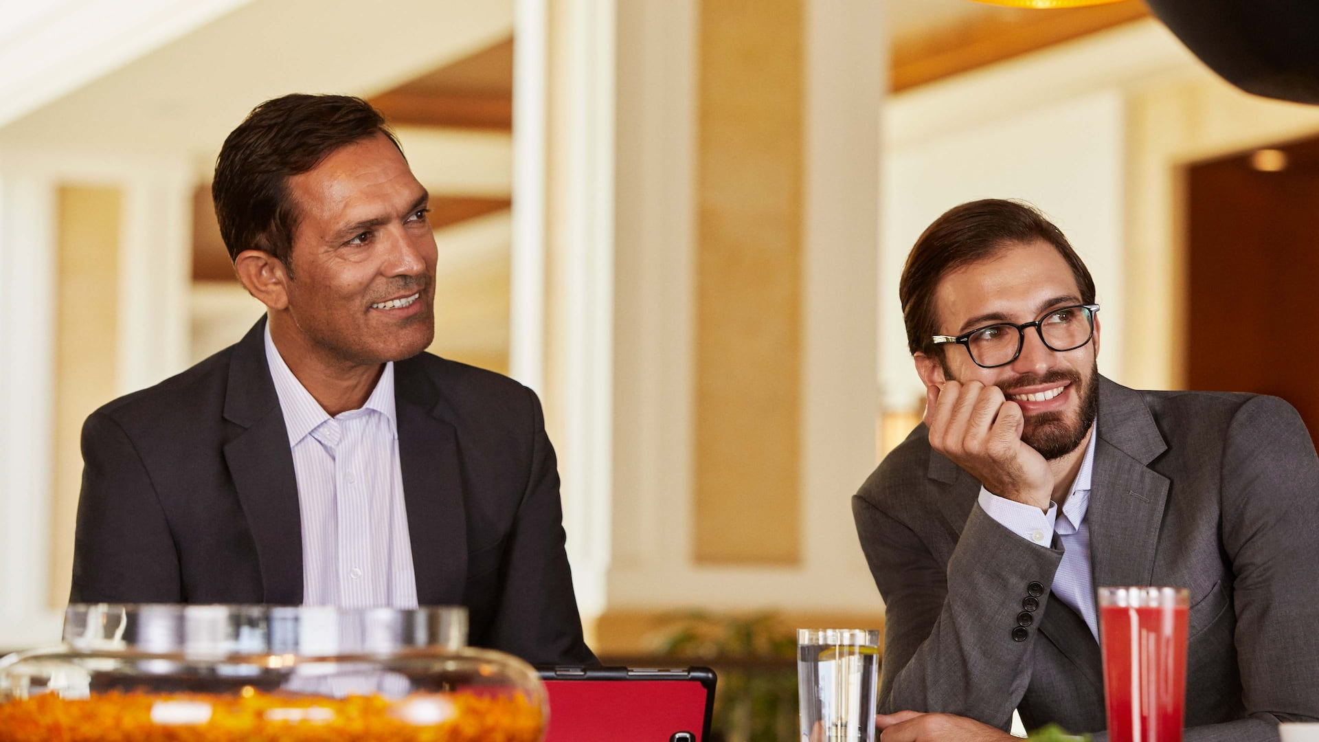 Business men at a meeting