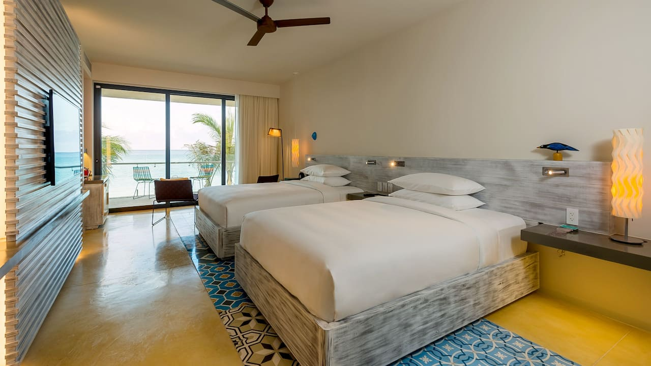 Andaz Mayakoba Resort Riviera Maya 2 double beds beach front