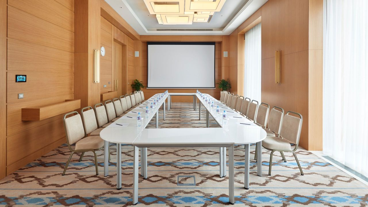 Boardroom Meeting Room Hollow Square Setup