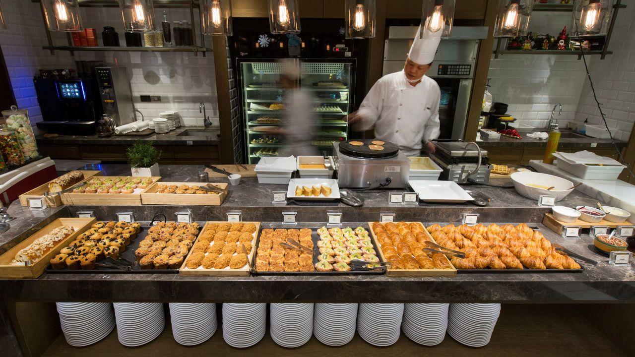 Cafe Breakfast Bread Area