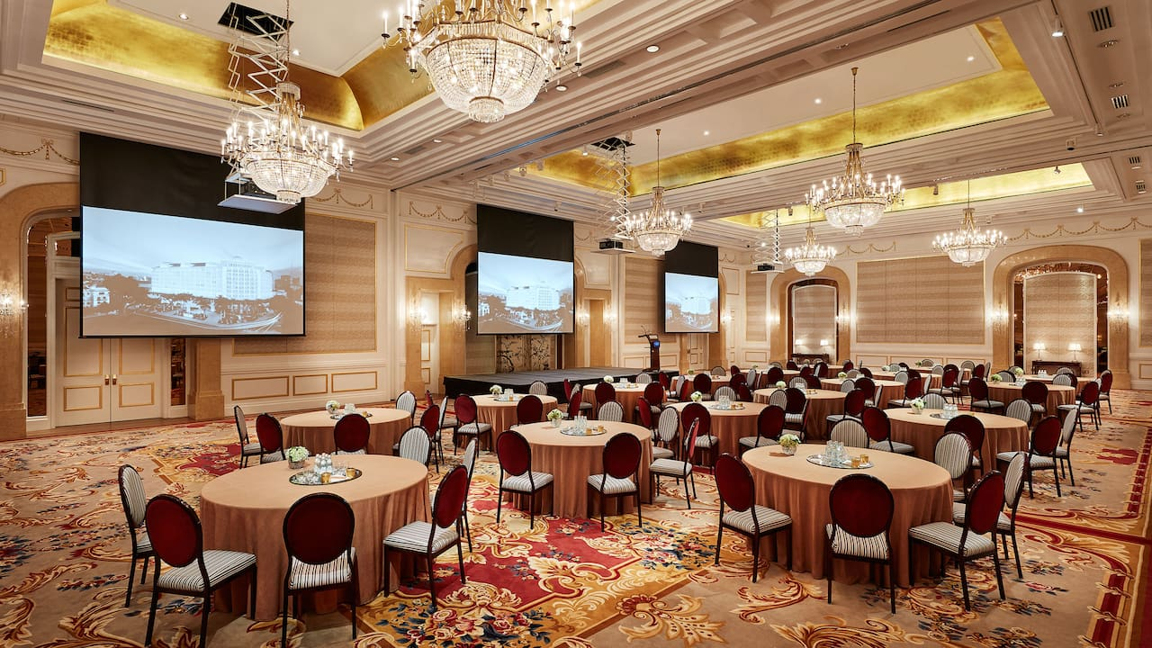 ParkHyatt Saigon Ballroom Cabaret Style (Meetings and Events Spaces Ho Chi Minh City)