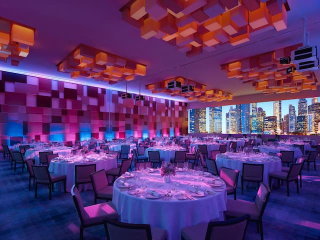Grand Hyatt Singapore Grand Ballroom with High Ceilings and Natural Daylight