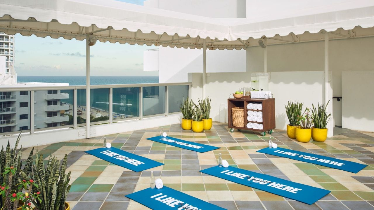 Fitness Deck Yoga Setup