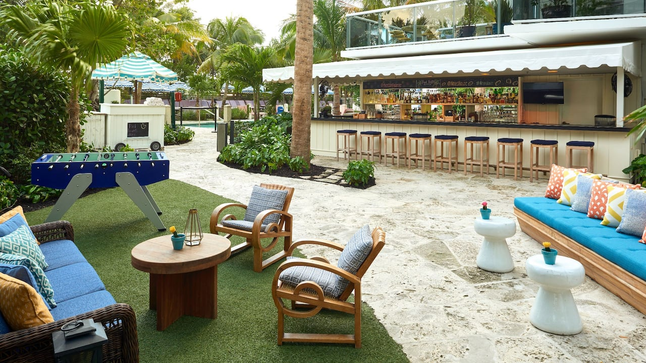 Pool Bar at The Confidante Miami Beach