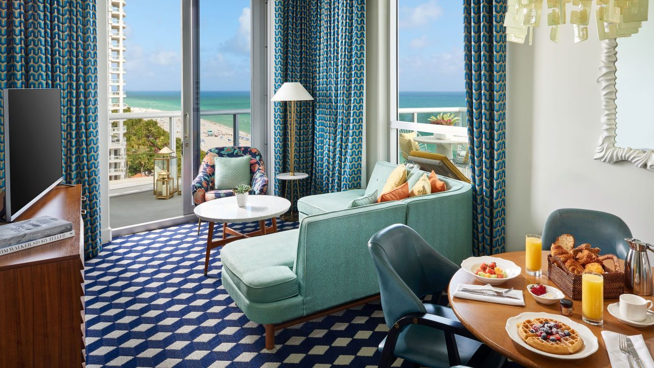 View Of Miami Beach From Hotel Suite At The Confidante Miami Beach