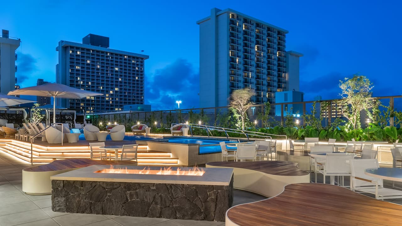 Pool Deck at Hyatt Centric Waikiki Beach