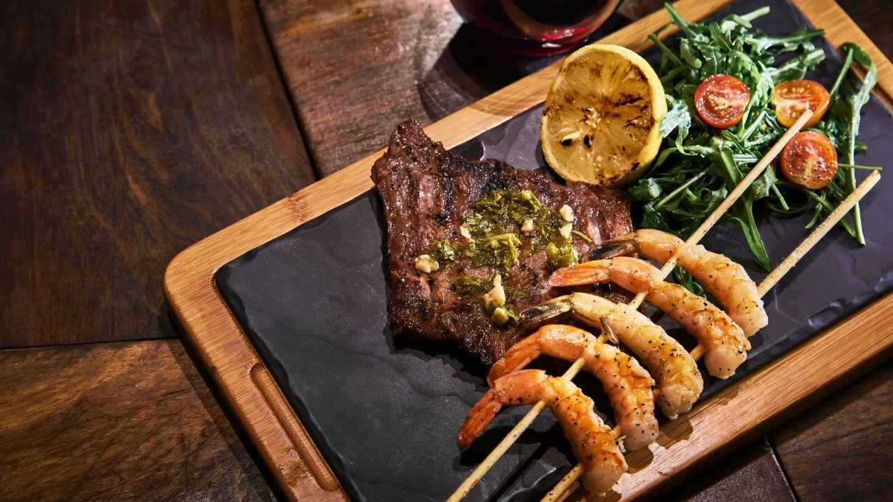 Carne Camarones Mendoza