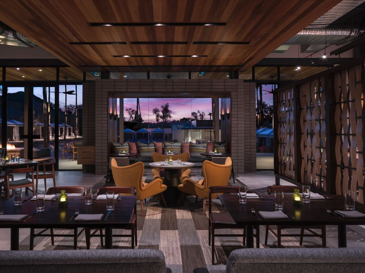 Weft Warp Sunset Dining at Andaz Scottsdale, AZ Resort & Bungalows