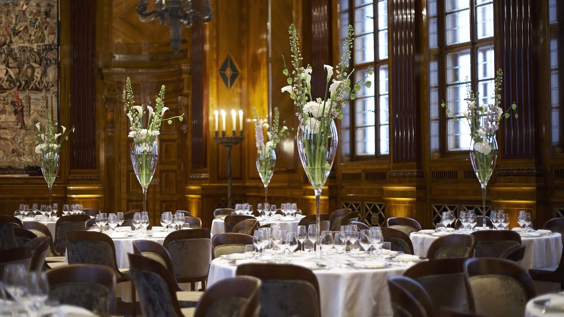 Park Hyatt Vienna Grand Salon Wedding Setup