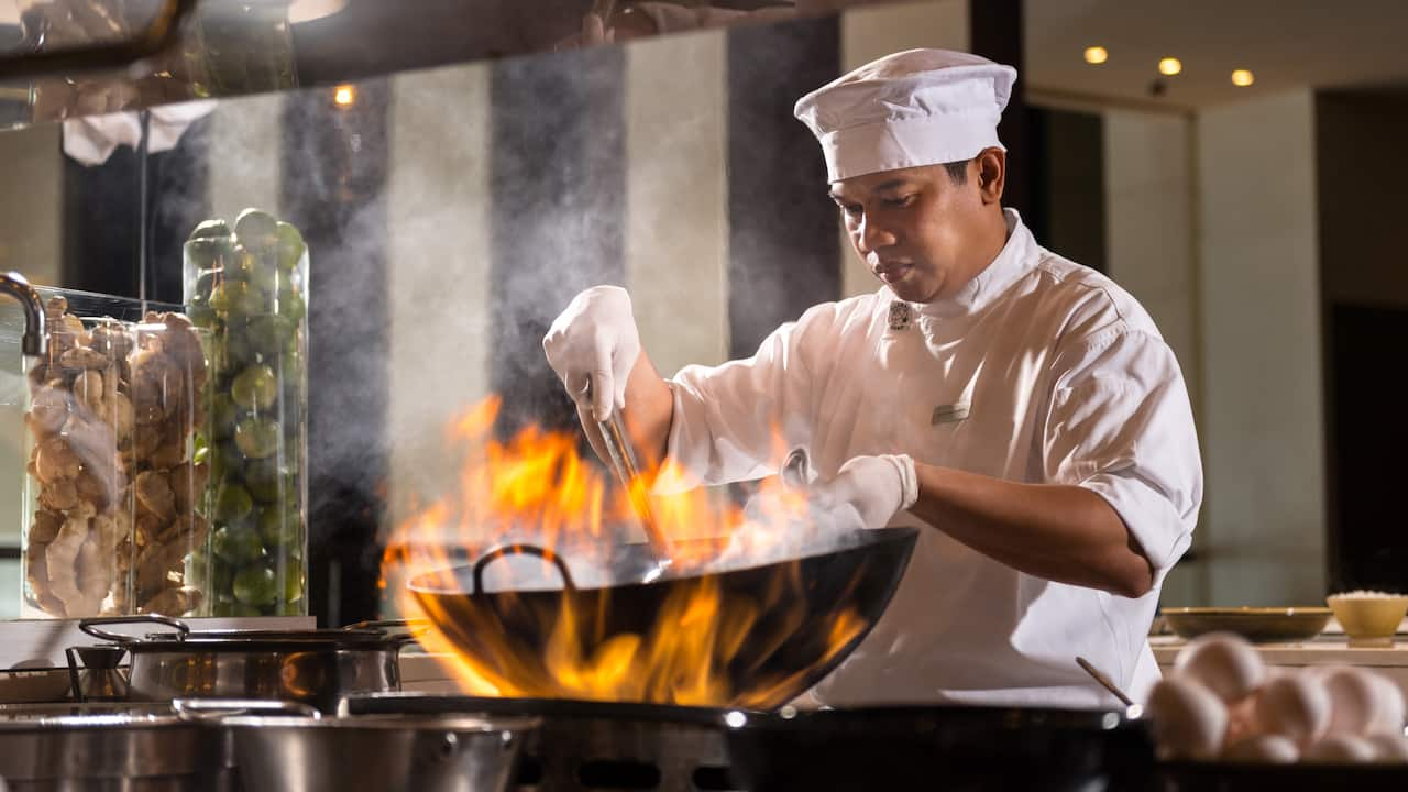 Chef at Grill