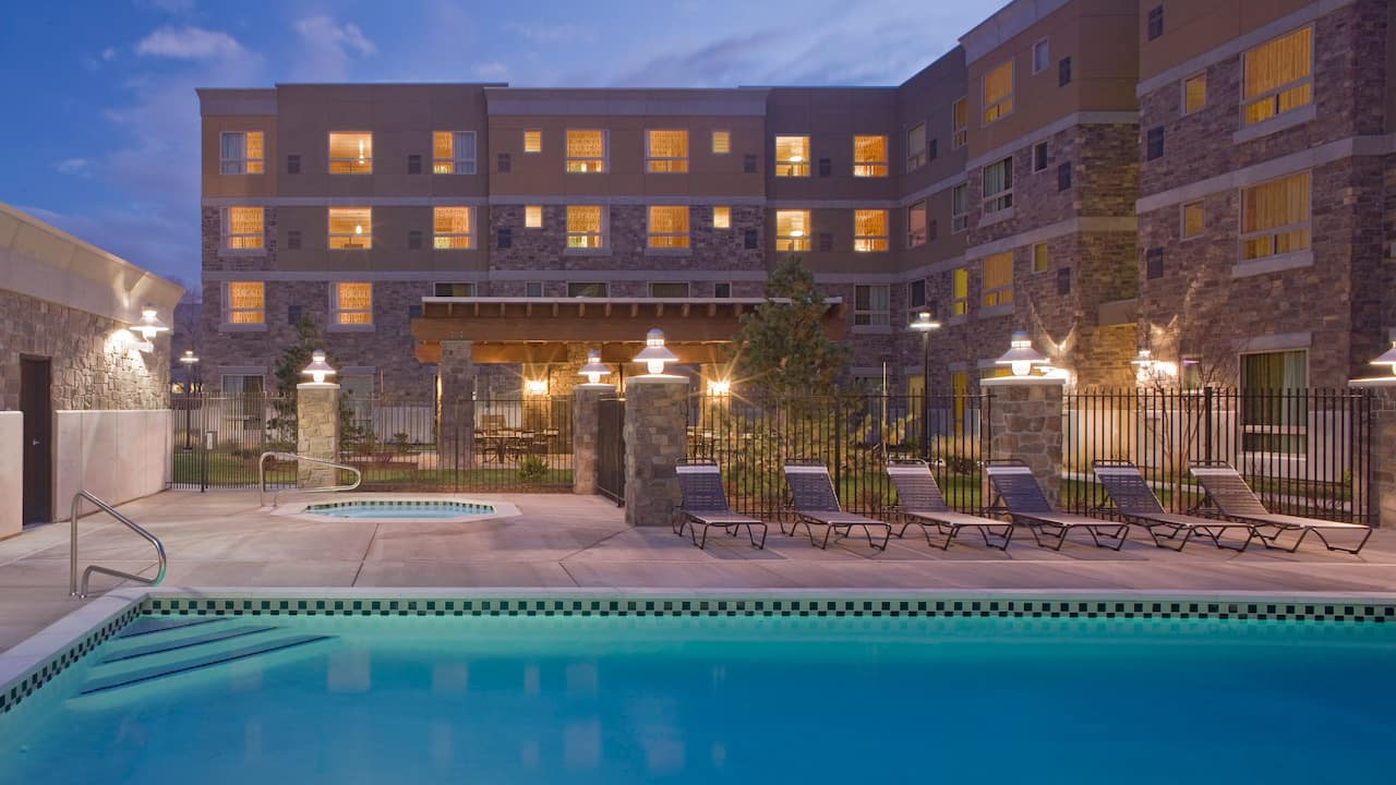 Sandy, UT Hotel Outdoor Pool and Jacuzzi – Hyatt House Salt Lake City/Sandy