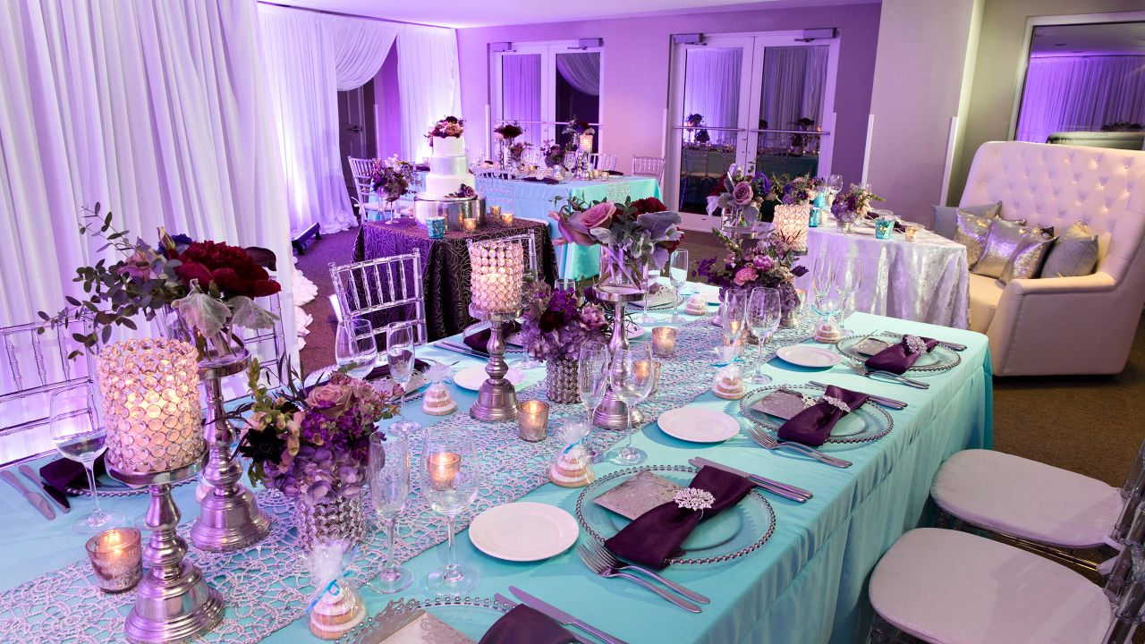 Clearwater Beach Resort Wedding Dinner Setup