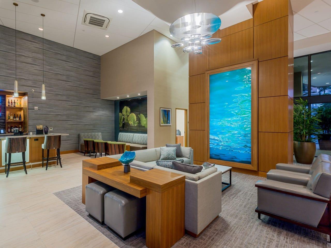 Lobby at Hyatt Place Boca Raton/Downtown