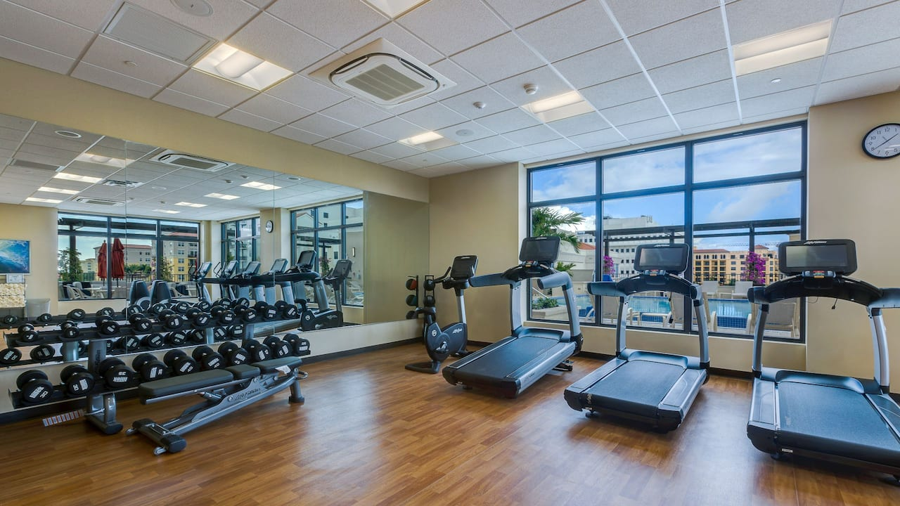 Fitness Center at Hyatt Place Boca Raton/Downtown