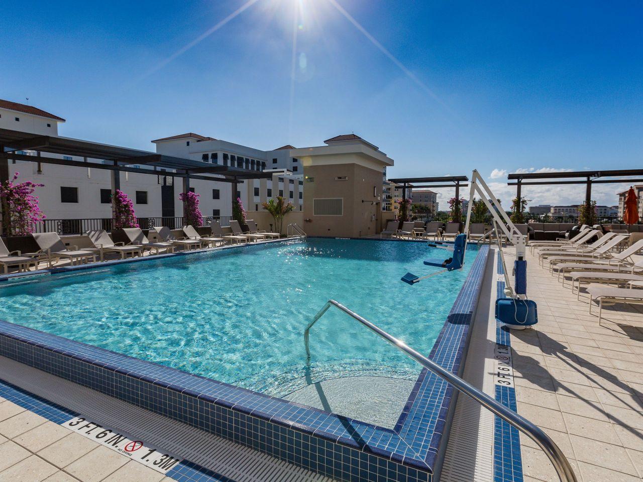 Pool at Hyatt Place Boca Raton/Downtown