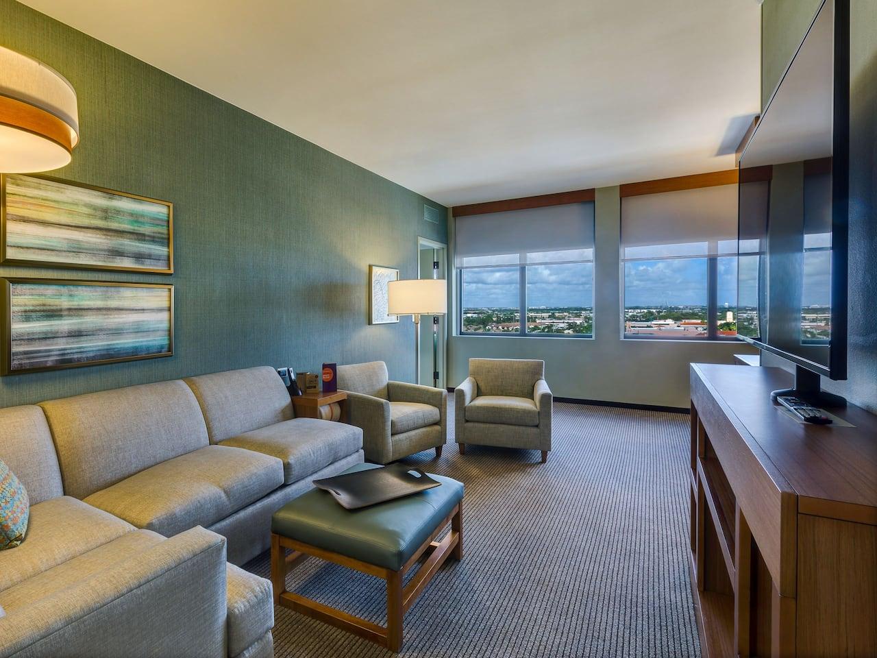 Cozy Corner Room at Hyatt Place Boca Raton/Downtown