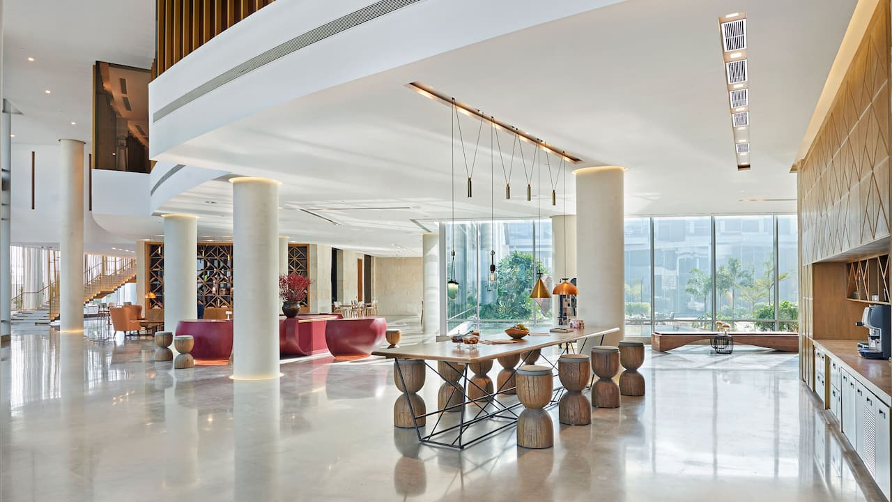 Andaz Delhi Lobby - Luxury Lifestyle hotel by Hyatt
