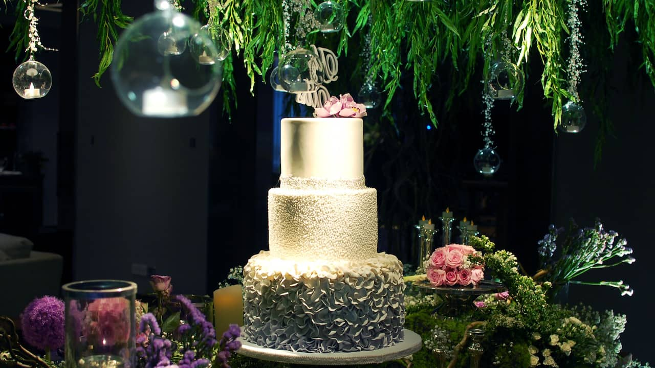 The Wedding Cake Crafted at the Grand Hyatt Hotel, Jakarta