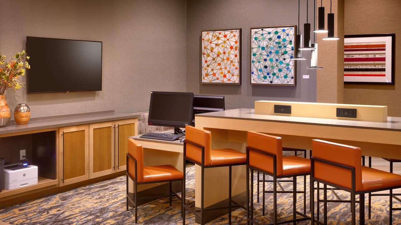 business center at Hyatt Place Emeryville