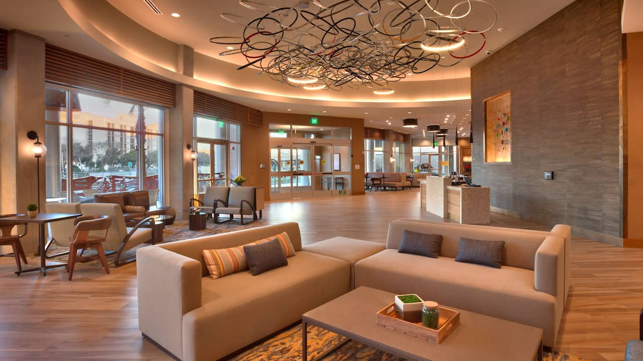 Lobby of the Hyatt Place Emeryville