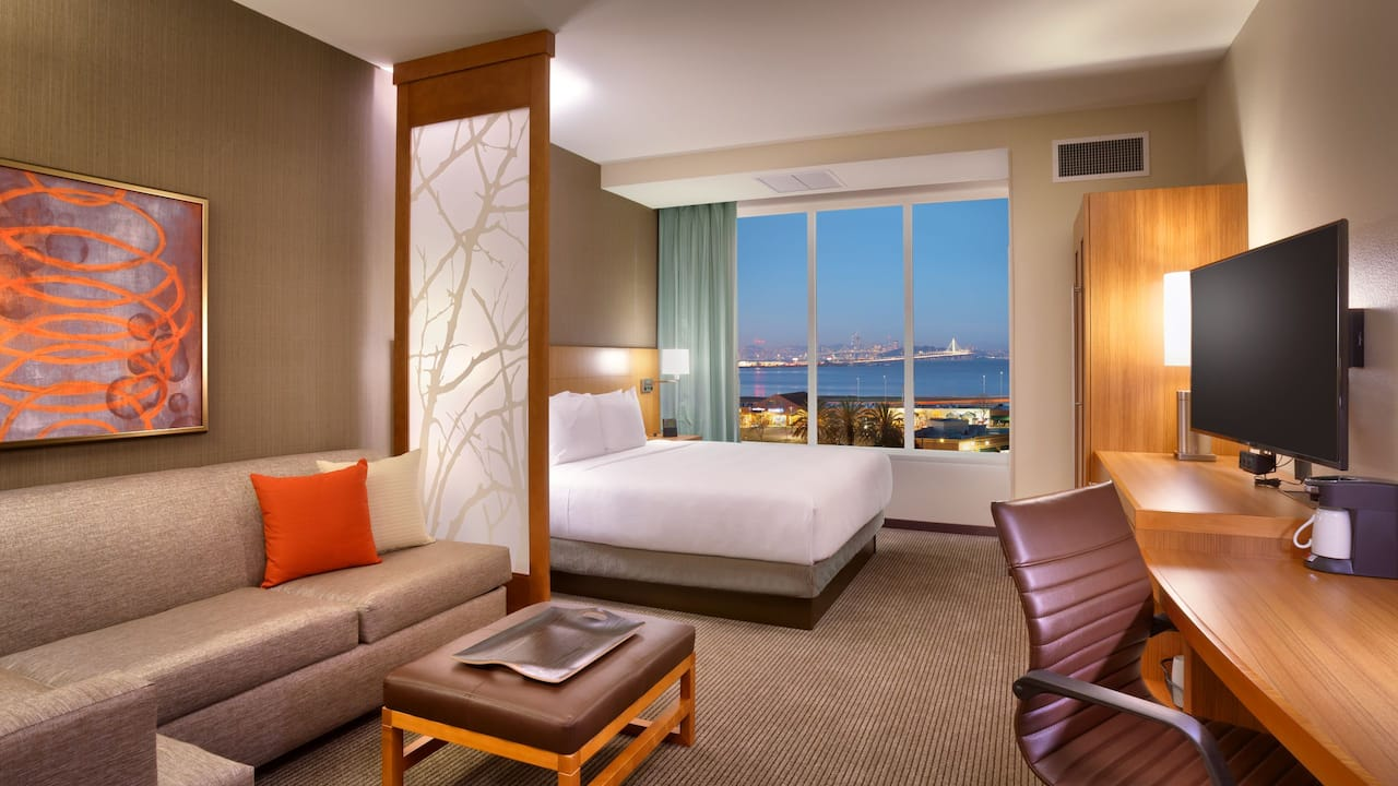 King Room at Hyatt Emeryville