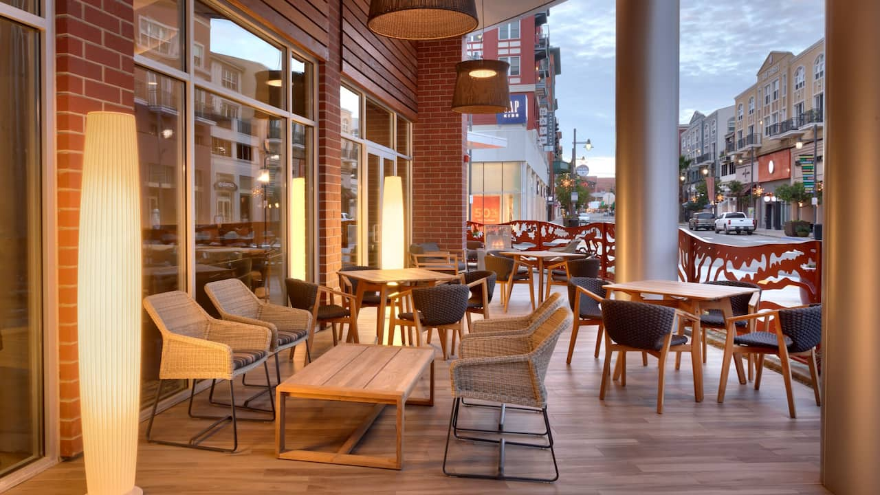 Outdoor Patio at the Hyatt Place Emeryville