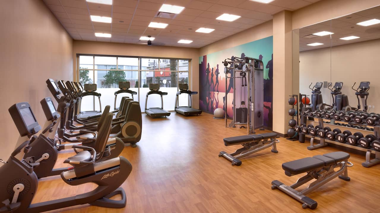 fitness center at Hyatt Place Emeryville