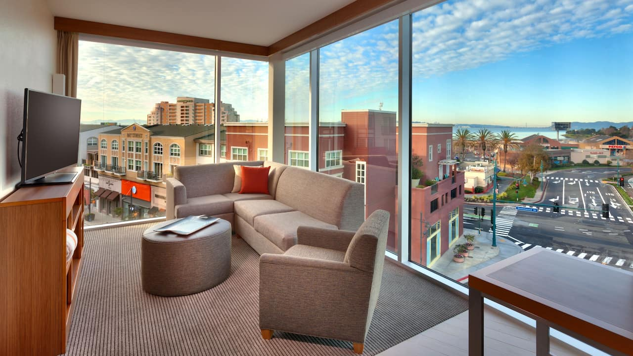 Suite Living Room at Hyatt Place Emeryville