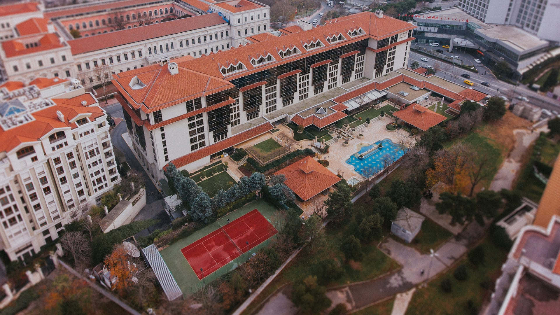 Grand Hyatt Istanbul Drone View