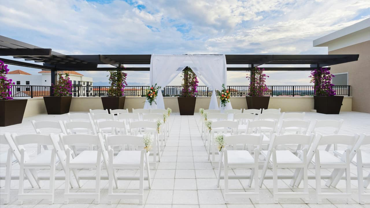 Outdoor Wedding Ceremony Hyatt Place Boca Raton/Downtown